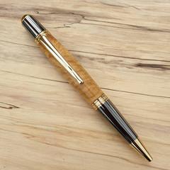 Sierra handmade pen, writing pen, gold, Australian wild olive.