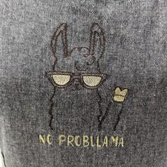 No probllama embroidered apron