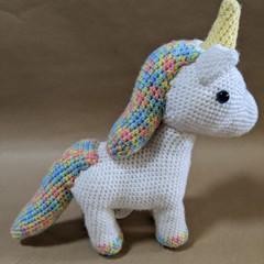 Crochet unicorn stuffed toy