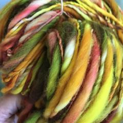 handspun hand dyed art yarn,  Merino, 200 grams