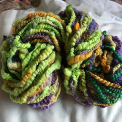 Fine Merino Silk, handspun yarn, Australian wool 100 grams 56 yards