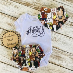 """#Farmlife"" Onesie Set Baby"
