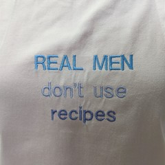 Real men embroidered apron
