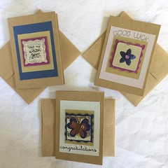 Set of Three Handy Blank Cards for Occasions