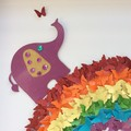 Rainbow wall art Nursery wall decor , kids room framed decor, rainbow stars