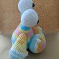 Crochet monster stuffed toy