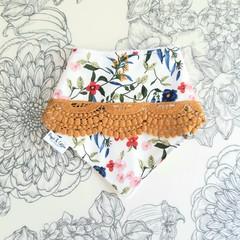 Floral & Lace Bandana Bib