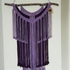 Jackie Bloom - Large Purple Macrame wall hanging