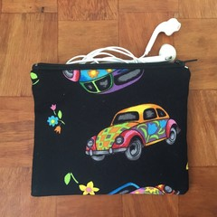 Coin Purse - Groovy VW Beetle