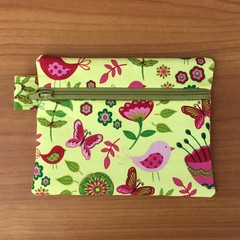 Coin Purse - Yellow Floral