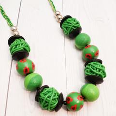 Into the Garden Polymer Clay Necklace