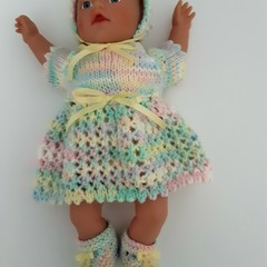 Miniland dolls clothes knitted set to fit 32cm doll.