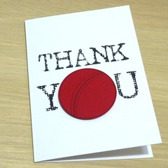 Thank you Coach card - Soccer Basketball Netball Football Cricket