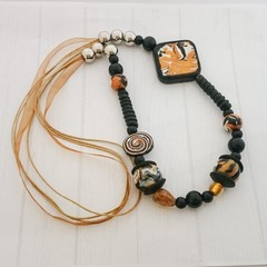 FREE Postage - Polymer Clay Statement Necklace