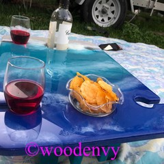 Custom Made ocean wine and cheese outdoor picnic table