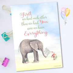 Elephant Quote Nursery Printable