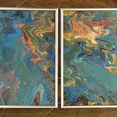 Blue Lava - Acrylic Pour Art