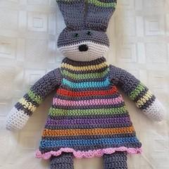 Cotton Crocheted Rainbow Bunny