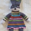 Cotton Crocheted Rainbow Bunny