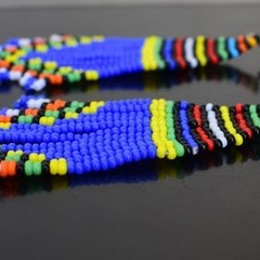 Blue & Multi Color Beaded Earrings|Earrings  for Women | Eunique Gift For Her