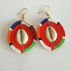 Orange & Multi Color Beaded Earrings| Earrings  for Women | Eunique Gift For Her