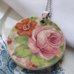 Vintage Swinnertons Rose Pendant