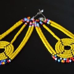 Yellow & Multi Color Beaded Earrings| Earrings  for Women | Eunique Gift For Her