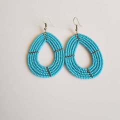 Blue Beaded Earrings|Statement Earrings  for Women | Eunique Gift For Her