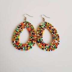 Multi Color Beaded Earrings|Statement Earrings  for Women | Eunique Gift For Her