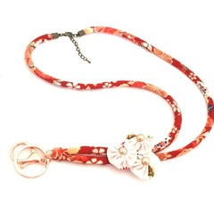 Adjustable Red Lanyard, Unique Office Lanyard, ID Badge Holder, Teachers Lanyard