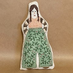 POCKET DOLL in green culottes