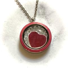 Floating Swarovski/Coalport heart Pendant