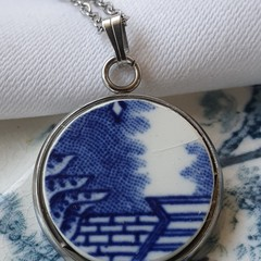 Blue Willow pendant