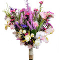 Rustic Boho Spring Flower Bouquet Wildflowers with Lavender & Pink Flowers