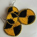 Black & Yellow Beaded Earrings|Earrings  for Women | Eunique Gift For Her