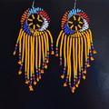 Mustard & Multi Color Beaded Earrings|Earrings  for Women | Eunique Gift For Her