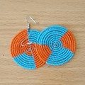 Blue $ Orange Beaded Earrings|Earrings  for Women | Eunique Gift For Her