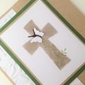 Easter Blessings Card - Kraft, Cross