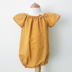 Romper - Mustard  - Cotton - Baby Girls - Retro -