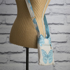 NEW!! the Pocket Hobo Bag - aqua butterfly