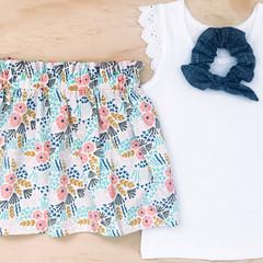 Skirt - Cream Floral - Organic