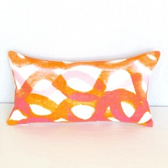 Orange Pink Lumbar Pillow Mini