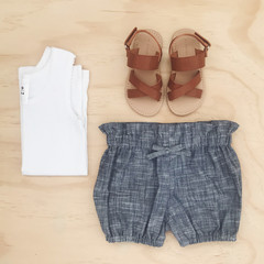 Bubble Shorties - Denim look - Bloomers