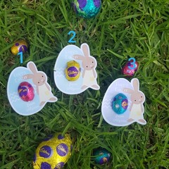 EASTER EGG CUT OUT - SET 8 - personalised