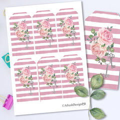 Roses Secret Garden Tag Printables