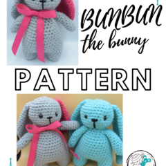 PATTERN Bunbun the Bunny - Crochet bunny, amigurumi toy rabbit, soft cuddling to