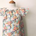Smock Dress - Cream Floral - Cotton - Retro - Organic