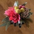 Wild Native - Mini posy arrangement - Boho style - 17x17cm - Eucalyptus