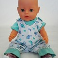 Baby doll Blue Overalls and TShirt