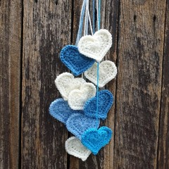 Crochet Wall Hearts - Colourway 3